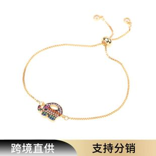 Elephant Diamond Bracelet Women's Fashion Trend Bracelet Micro Inlaid Zircon Adjustable Box Bracelet NHPY196555's discount tags