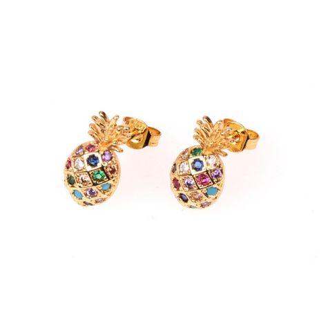 New earrings popular micro diamond fruit pineapple shape earrings NHPY196559's discount tags