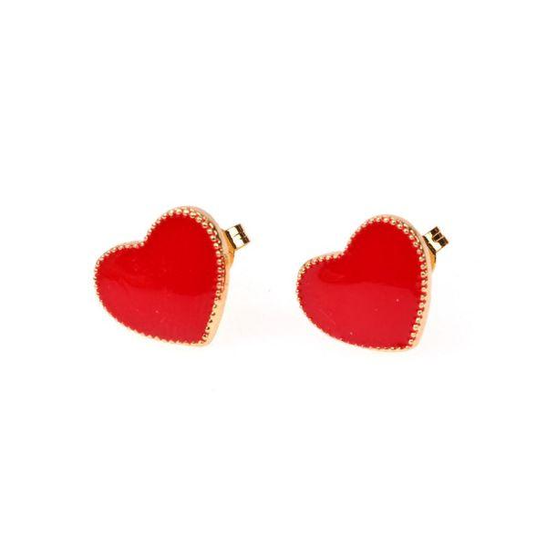 New earrings fashion color drip oil love earrings creative popular ear jewelry NHPY196560