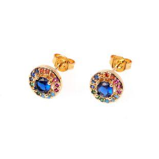 Joyas pendientes de circón pendientes de diamantes coloridos de moda femenina joyería popular popular del oído NHPY196562's discount tags
