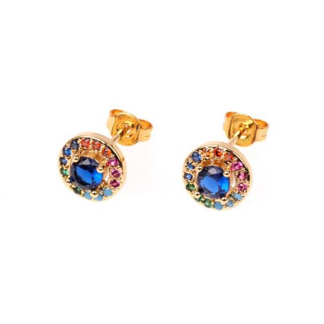 Jewelry zircon earrings female fashion colorful diamond earrings creative popular ear jewelry NHPY196562's discount tags