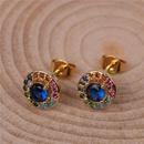 Jewelry zircon earrings female fashion colorful diamond earrings creative popular ear jewelry NHPY196562