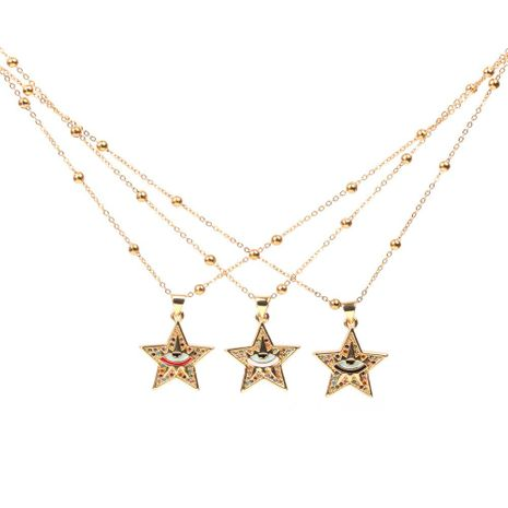 New Accessories Pentagram Eye Pendant Necklace Star Hip Hop Necklace Jewelry NHPY196582's discount tags