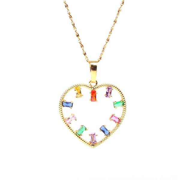 New Accessories Fashion Heart-shaped Female Pendant Necklace Micro-inlaid Diamond Pendant Wholesale NHPY196584