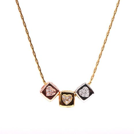 New Product Cubic Cubic Zirconia Clavicle Necklace Stainless Steel Necklace NHPY196594's discount tags