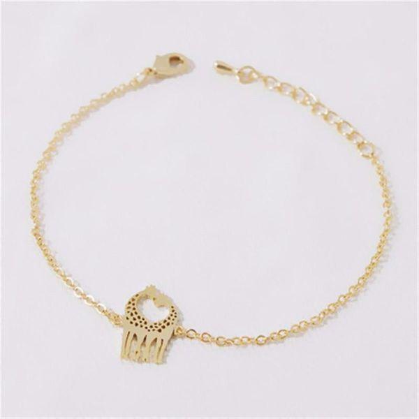 Bracelet alloy plating giraffe bracelet couple love bracelet anklet wholesale NHCU196684
