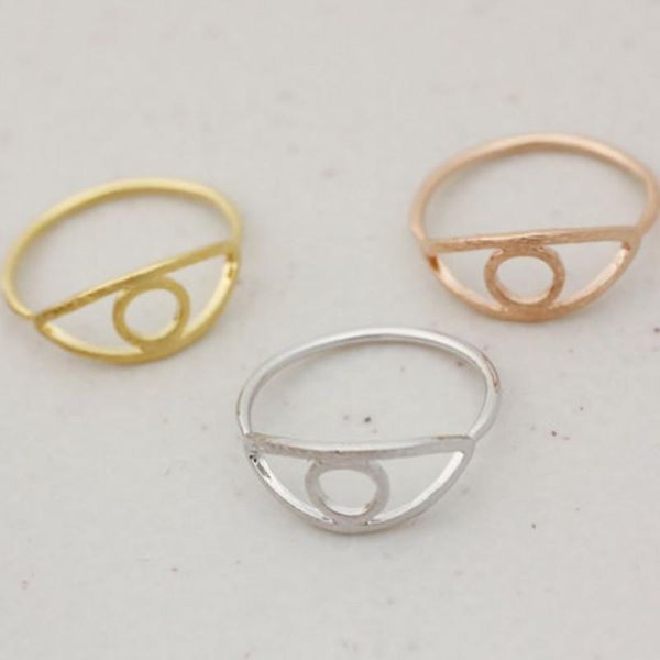 Evil Skull Eye Ring Solo anillo de joyería al por mayor NHCU196691