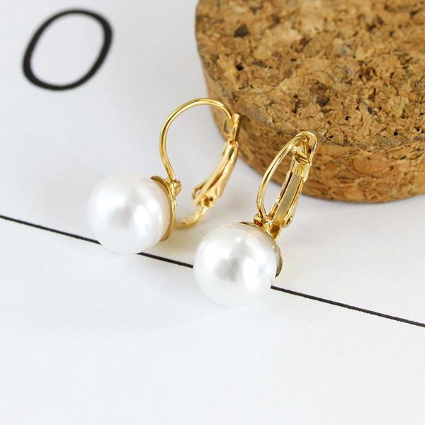 Fashion simple pearl earrings earrings female pearl inlaid earrings jewelry wholesale NHCU196705
