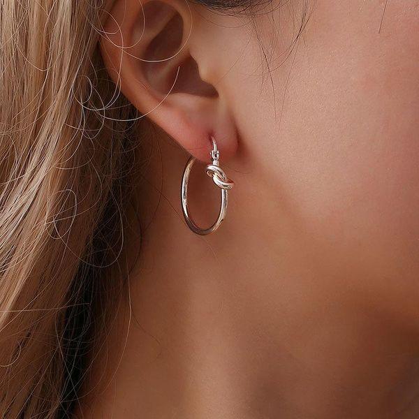 Earrings Simple Knot Earrings Women Simple Geometric Circle Earrings Hoop Earrings NHCU196707