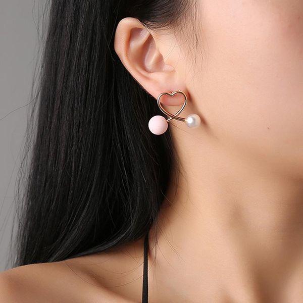 Ear jewelry Korean cross peach heart love earrings fashion earrings women NHCU196715