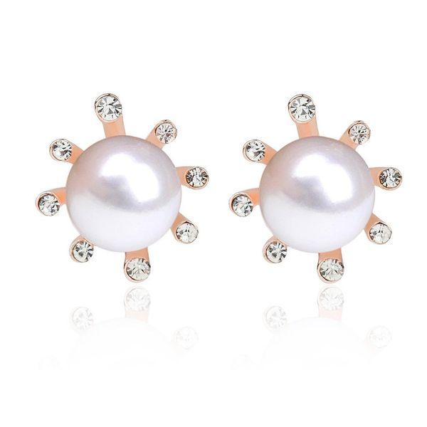 Best selling fashion flower pearl earrings small sun flower earrings small flower earrings NHCU196716
