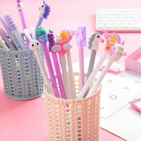 Cartoon creative white purple girl heart series elementary and middle school students writing signature gel pen NHHE196730