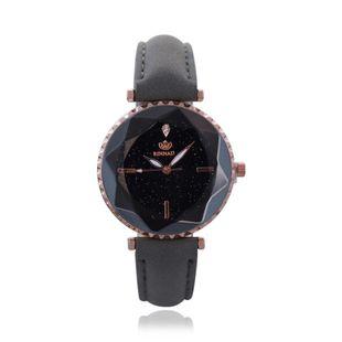 New Fashion Starry Sky Ladies Belt Watch Korean Diamond Glass Simple Scale Quartz Watch NHHK196734's discount tags