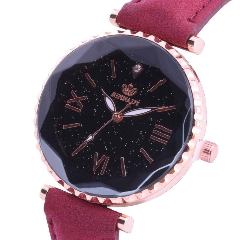 Fashion Diamond Glass Watch Women39s Simple Scale Diamond Belt Watch Student Watch NHHK196735