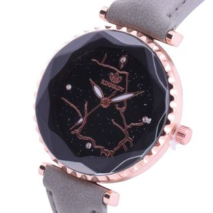 New Starry sky student belt watch Korean fashion diamond irregular line quartz watch NHHK196737's discount tags