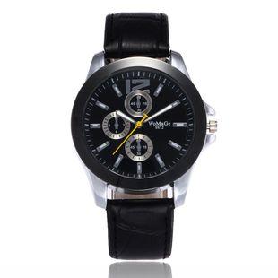 Classic Men's Watch High-end Fashion Three-Eye Quartz Belt Business Watch Wholesale NHSY196745's discount tags