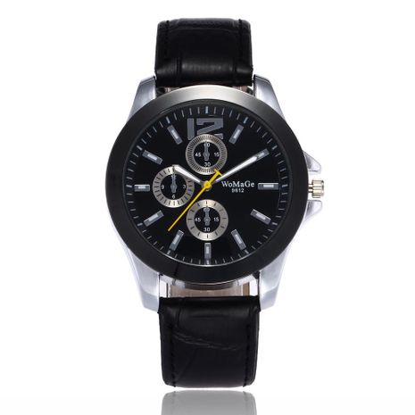 Classic Men's Watch High-end Fashion Three-Eye Quartz Belt Business Watch Wholesale NHSY196745's discount tags