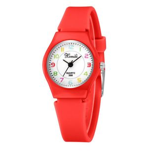 New Silicone Children's Watch Cute Fine Silicone Strap Digital Face Quartz Watch Student Casual Watch NHSY196746's discount tags