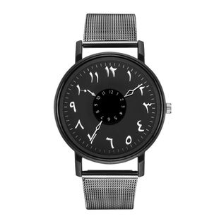 Couple Mesh Belt Watch Fashion Simple Mars Dial Dial Dial Alloy Mesh Band Watch NHSY196747's discount tags