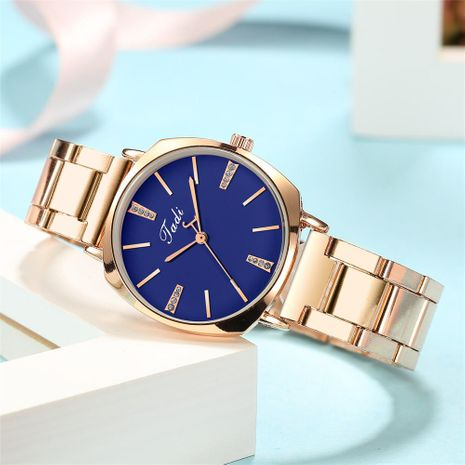 Fashion Diamond Inlaid Steel Band Watch Korean Trend Alloy Steel Band Watch Simple Ladies Watch NHSY196753's discount tags