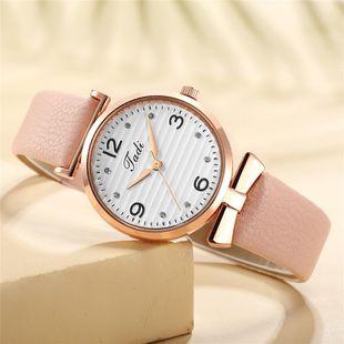 Korean fashion quartz casual belt watch temperament with diamond digital face women's wrist watch wholesale watch NHSY196755's discount tags