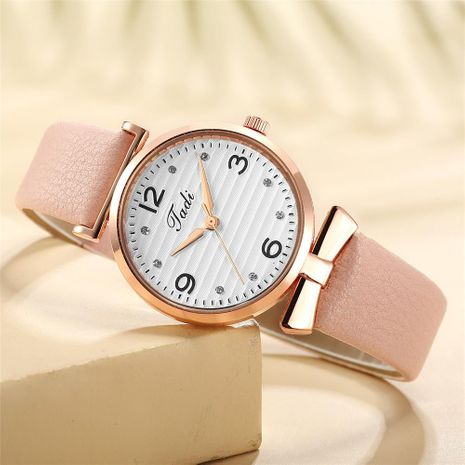 Korean fashion quartz casual belt watch temperament with diamond digital face women's wrist watch wholesale watch NHSY196755's discount tags
