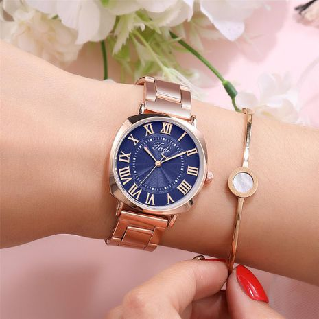 Fashion simple Roman scale ladies steel band watch Roman scale ladies wrist watch NHSY196760's discount tags