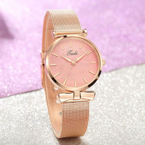 Fashion Simple Ladies Mesh Watch Trend Rose Gold Reloj de moda para mujer NHSY196765's discount tags