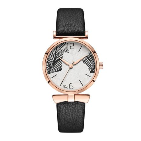 New Fashion Belt Watch Women's Korean Quartz Casual Hand Watch Simple Leaf Pattern Women's Watch Wholesale NHSY196768's discount tags