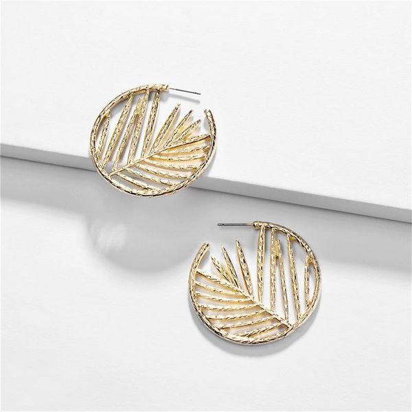 New Jewelry Earrings Hollow Leaf Women's Stud Earrings NHLU196778