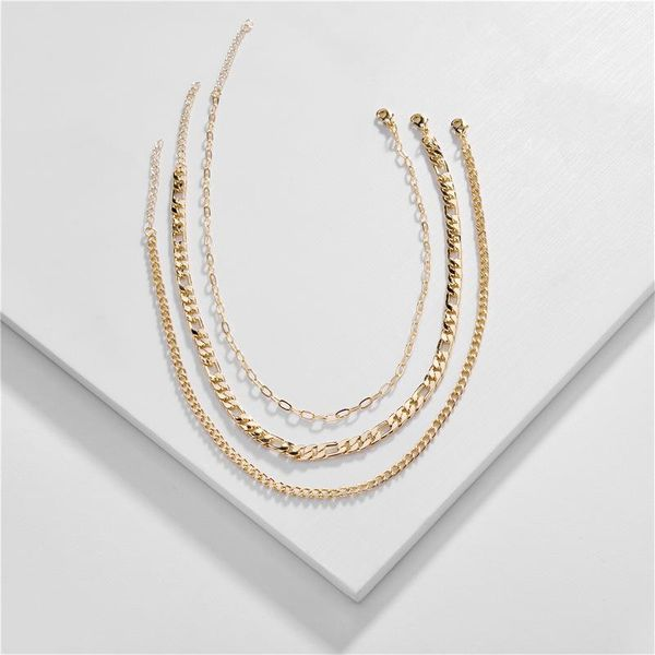 Fashion Jewelry Wholesale Sets Chain Women Short Short Chain New Multi-layer Necklace NHLU196786