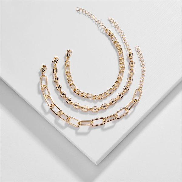 Conjunto de pulsera de cadena de cobre al por mayor de joyería nueva pulsera al por mayor NHLU196787