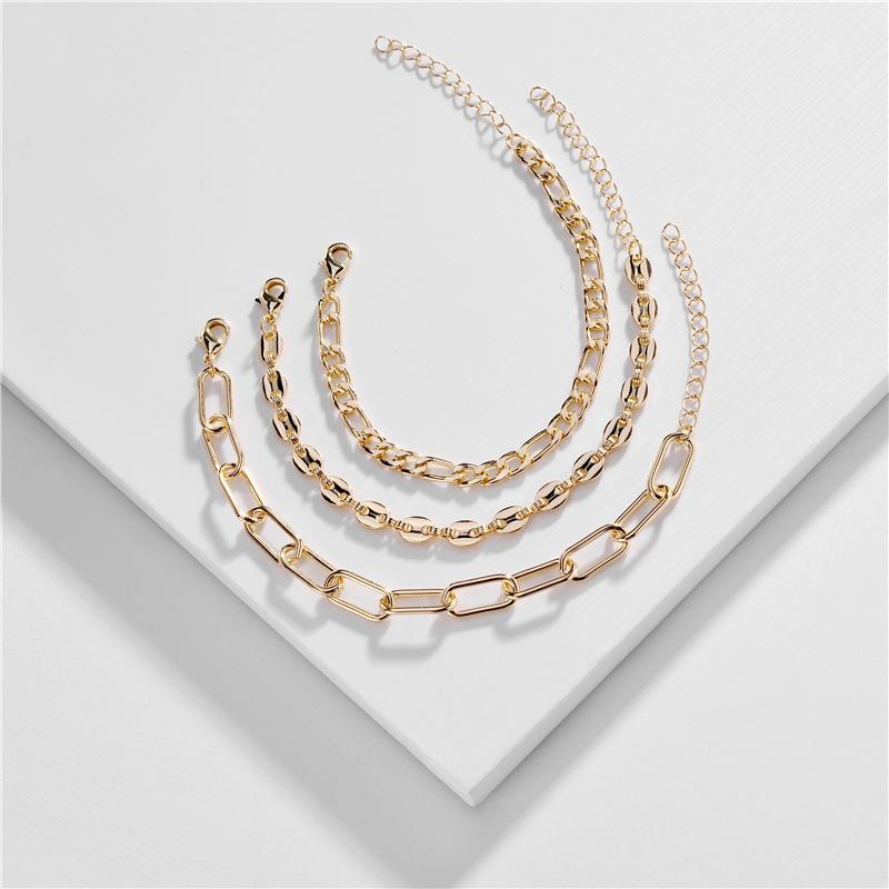 Jewelry wholesale copper chain bracelet set new bracelet wholesale NHLU196787