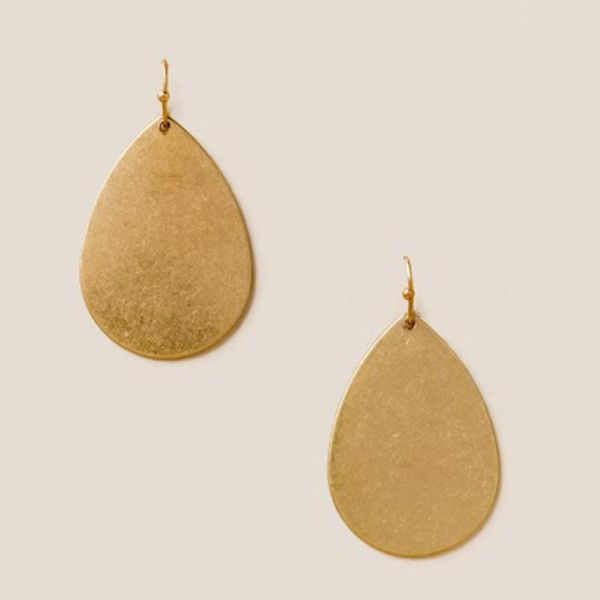New jewelry earrings exaggerated water drop pendant female earrings dumb gold electroplating earrings NHLU196789