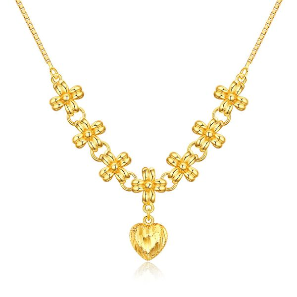 Bridal Accessories Wholesale Gold Plated Ladies Necklace Pendant Love Clavicle Chain NHOPK196799