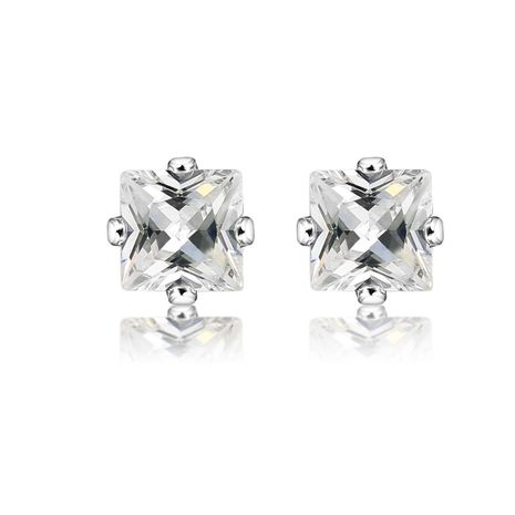 Cubic Zirconia Earring Crown Diamond Stud Earrings NHCU196816's discount tags