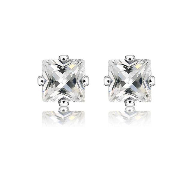Aretes de diamantes con corona de aretes de circonio cúbico NHCU196816