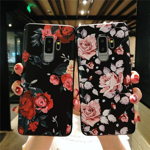 Retro flower Samsung note9 mobile phone case s10plus s8 s9 soft case note10plus phone case NHHC196837