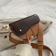 New Korean retro messenger bag female simple wide shoulder strap fashion casual saddle bag NHPB196876