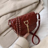 New Korean rhombus saddle bag fashion tassel chain shoulder diagonal bag NHPB196883