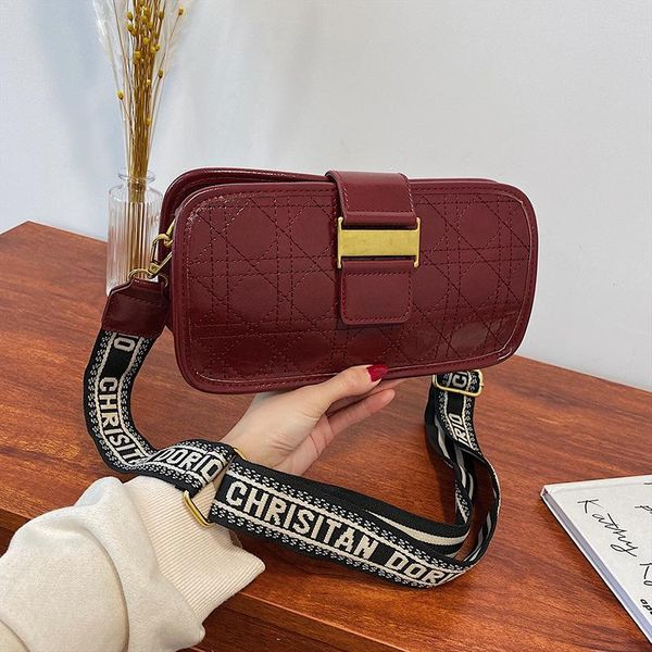 New fashion wild rhombus chain shoulder Messenger bag simple lock bag NHPB196904