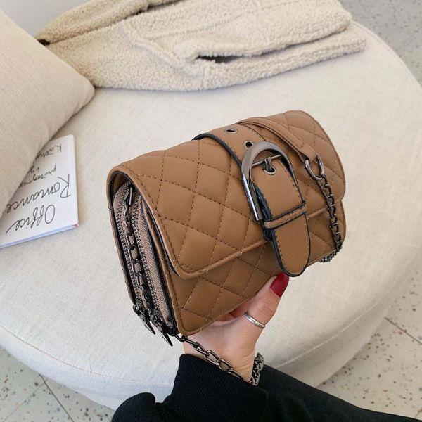New simple retro wild shoulder bag fashion rhombus chain diagonal small square bag NHPB196905