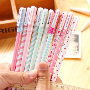 Korean stationery creative small fresh gel pen cute colored pen 10 sets of ten colors wholesale NHZE196922's discount tags
