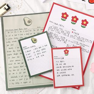 Grid note book cute student creative stationery cartoon note paper message portable notepad NHZE196931's discount tags