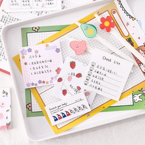 Simple Korean Note Paper Sticky Student Cute Creative Book NHZE196932's discount tags