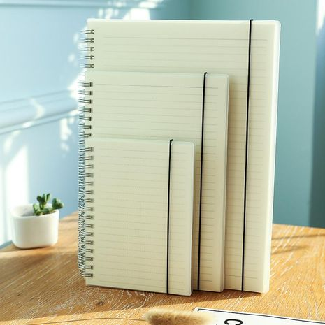 Simple Frosted Coil Student Grid Notepad Horizontal Line Notebook Checkered Handbook Plan Book NHZE196933's discount tags