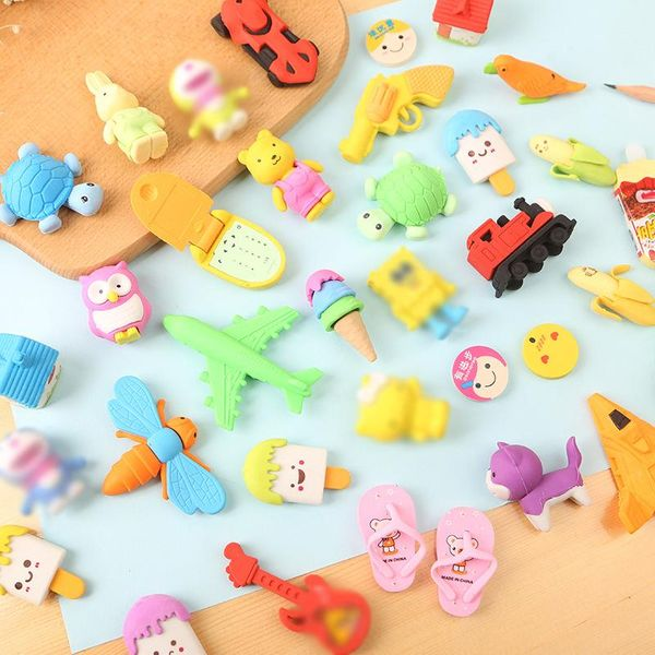 Creative cartoon animal eraser cute assembling children rubber student praise prize learning stationery NHZE196943