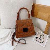New retro fashion lock crossbody shoulder bag Korean simple wild rivet handbag NHPB196982