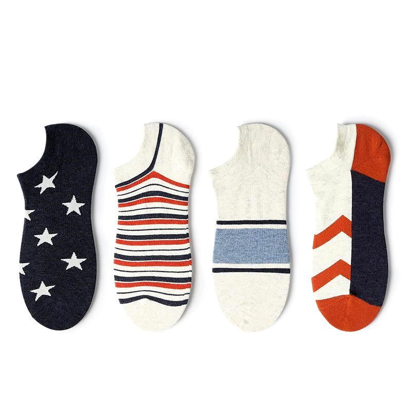 New socks thin section tide socks striped shallow mouth Korean fashion men socks wholesale NHQY196999