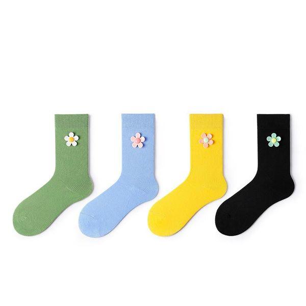 New Korean version of the tide socks college wind socks socks combed cotton avocado socks wholesale NHQY197011